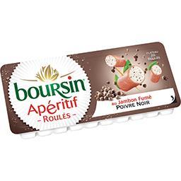 Boursin Apéritif - Roulés de jambon fumé poivre noir