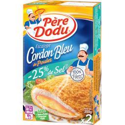 Père Dodu Escalope cordon bleu de poulet réduit en sel