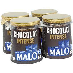 Malo Malo Emprésuré chocolat intense les 4 pots de 125 g