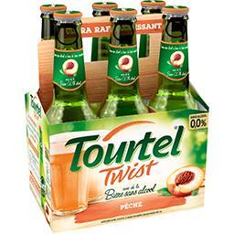 Tourtel Twist Tourtel Twist - Bière sans alcool pêche les 6 bouteilles de 27,5 cl