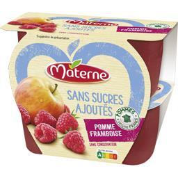 Materne Materne Sans Sucres Ajoutés - Spécialité pomme framboise les 4 pots de 100 g