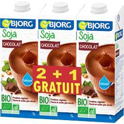 Bjorg Boisson soja chocolat BIO les 2 briques de 1 l