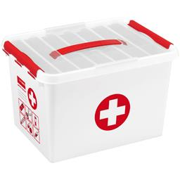 Boite Q-line First Aid 22 l avec insert blanc/rouge