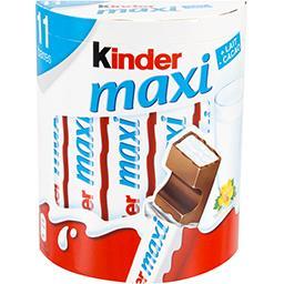 Kinder Kinder Maxi - Barres chocolatées la boite de 11 pièces - 231 g