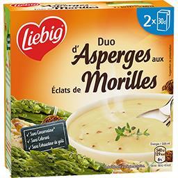 Liebig Liebig Duo d'asperges aux éclats de morilles les 2 briques de 30 cl