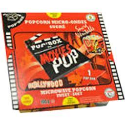 Movies Movies Popcorn micro-ondes sucré Pop'Box la box de 100 gr environ