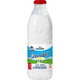 Candia GRANDLAIT Candia, lait frais entier la bouteille de 1l