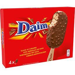 Daim Daim Glaces au caramel avec morceaux la boite de 4 - 284 g