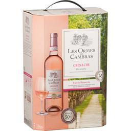 Cambras Les Ormes de Cambras Vin de Pays d'Oc Grenache, vin rosé la fontaine de 5 l