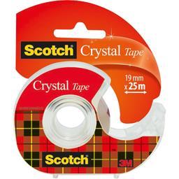 Scotch Scotch Ruban Crystal 25 m x 19 mm le dévidoir + ruban