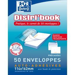Oxford Oxford Enveloppe 114x162 auto adhésives précasées Distribook le bloc de 50