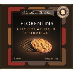Florentins chocolat noir & orange