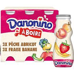 Danone Danone Danonino - Yaourt à boire aux fruits les 6 bouteilles de 100 g