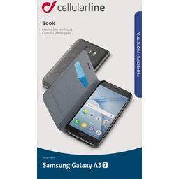 Etui rabat portefeuille noir pour Samsung Galaxy A3 2017