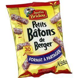 Justin Bridou Justin Bridou Saucisson sec Petits Bâtons de Berger nature le paquet de 160 gr