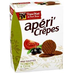 Apéri'Crêpes - Mini galettes tomate & olive