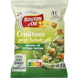 Croûtons cubes salade ail & fines herbes