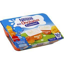Nestlé Nestlé Bébé P'tit Onctueux Croissance - Desserts abricot/mangue 10+ mois les 6 pots de 60 g