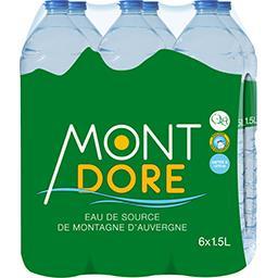 Eau de source de montagne d'Auvergne