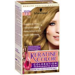 Coloration 7,3 blond doré - Kératine Color