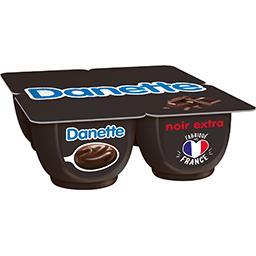 Danone Danone Danette - Crème dessert chocolat noir extra les 4 pots de 125 g