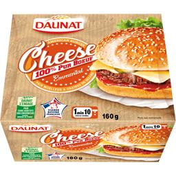 Daunat Cheese Burger bœuf emmental la boite de 160 g