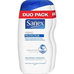 Sanex Sanex Crème de douche Dermo Protector peaux normales les 2 flacons de 500 ml