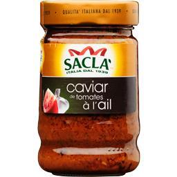 Caviar de tomates à l'ail