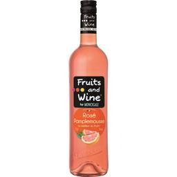 Moncigale Pamplemousse Fruits and Wine Boisson Aromatisée à base de vin Rosé la bouteille de 75 cl