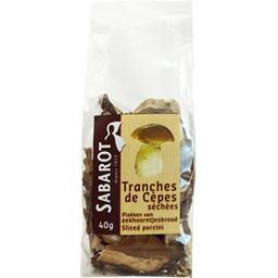 Sabarot - Tranches de cèpes blancs séchés en sachet 40g