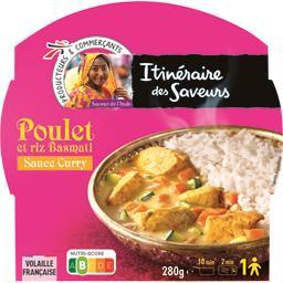 Saveur de l'Inde - Poulet sauce curry et riz basmati