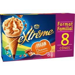 Cônes Pecan Dream sauce caramel fondant