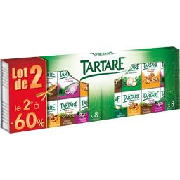 Tartare Fromages aromatisés Coffret 4 saveurs les 2x8 portions de 16,63 g