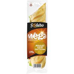 Sandwich viennois poulet salade œuf tomate - Le Méga