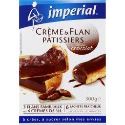 Crème & flan pâtissiers saveur chocolat
