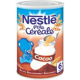 Nestlé Nestlé Bébé P'tite Céréale - Céréale cacao, 6+ mois la boite de 400 g