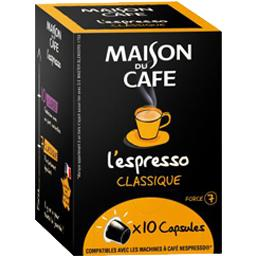 Capsules de café L'Espresso Classique force 7