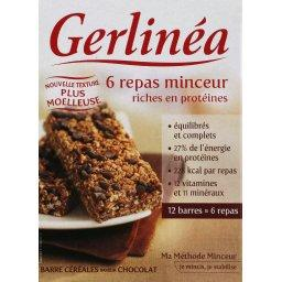 Gerlinéa Gerlinéa Mon Repas - Barres céréales chocolat la boîte de 200g