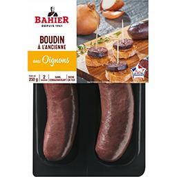 Regis Bahier Bahier Boudin noir oignons les 2 boudins de 125 g