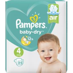Pampers Pampers Couches baby-dry, t4 Le paquet de 25