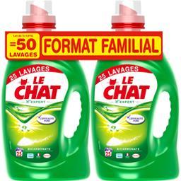 Le Chat Expert - Lessive liquide expert les 2 flacons de 1,875 l