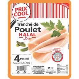 Tranché de poulet halal