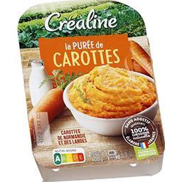 Créaline Créaline La Purée carottes la barquette de 400 g