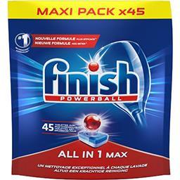 Finish Finish Powerball - Tablettes lave-vaisselle Tout en 1 le paquet de 45 tablettes