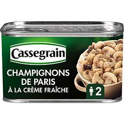 Champignons de Paris à la crème fraîche