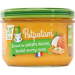 Potpotam Ecrasé de patate douce poulet curry et coco Pot de 200g