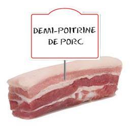 Demi poitrine de porc 1/2 SEL
