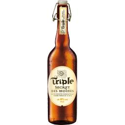 Secret des Moines Abbaye de Crespin Bière blonde Triple Secret des Moines la bouteille de 75 cl