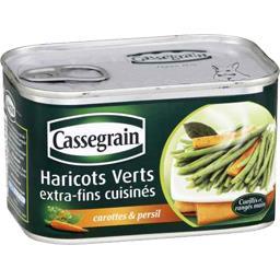 Haricots verts extra-fins cuisinés carottes & persil