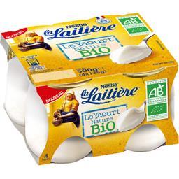 Nestlé La Laitière Le Yaourt nature BIO les 4 pots de 125 g
